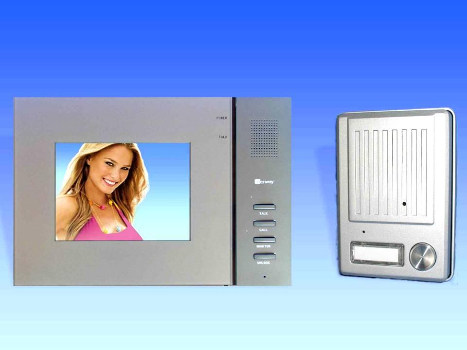 genway video t rsprechanlage mit versteckter minikamera gegensprechanlage s2v1 ebay. Black Bedroom Furniture Sets. Home Design Ideas