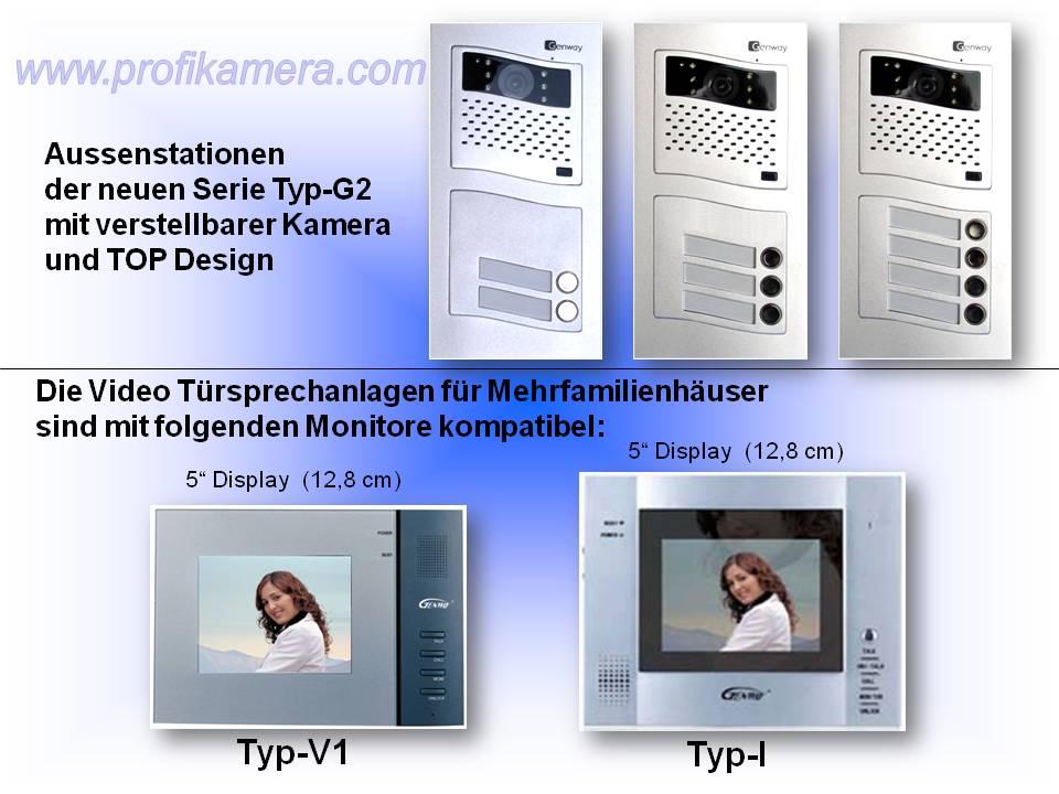 Genway Türspechanlage Aussenstationen und Monitore verschiedene Designs