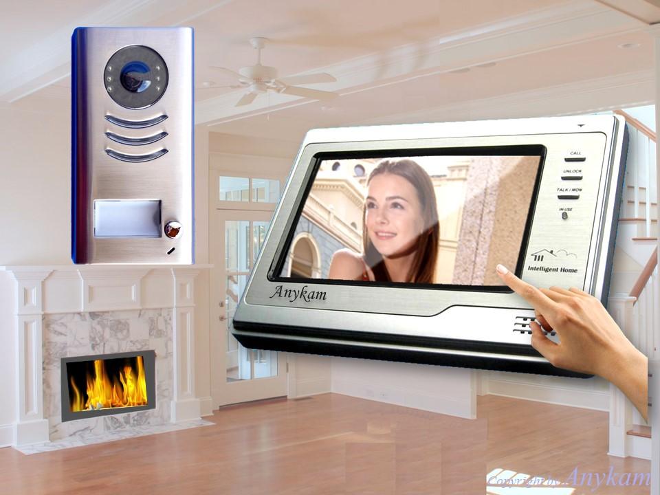 video gegensprechanlage t rsprechanlage t rklingel kamera 2 monitore vt591 2x692 ebay. Black Bedroom Furniture Sets. Home Design Ideas