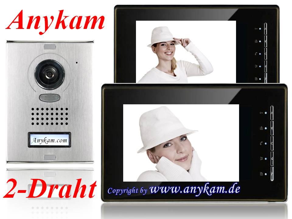 video sprechanlage klingelanlage kamera 2 draht. Black Bedroom Furniture Sets. Home Design Ideas