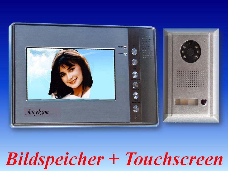 video t rsprechanlage farbmonitor bildspeicher 593 691. Black Bedroom Furniture Sets. Home Design Ideas