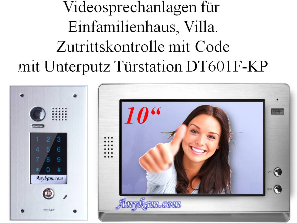Video gegensprechanlage Zutrittskontrolle mit Code, DT596F-KP