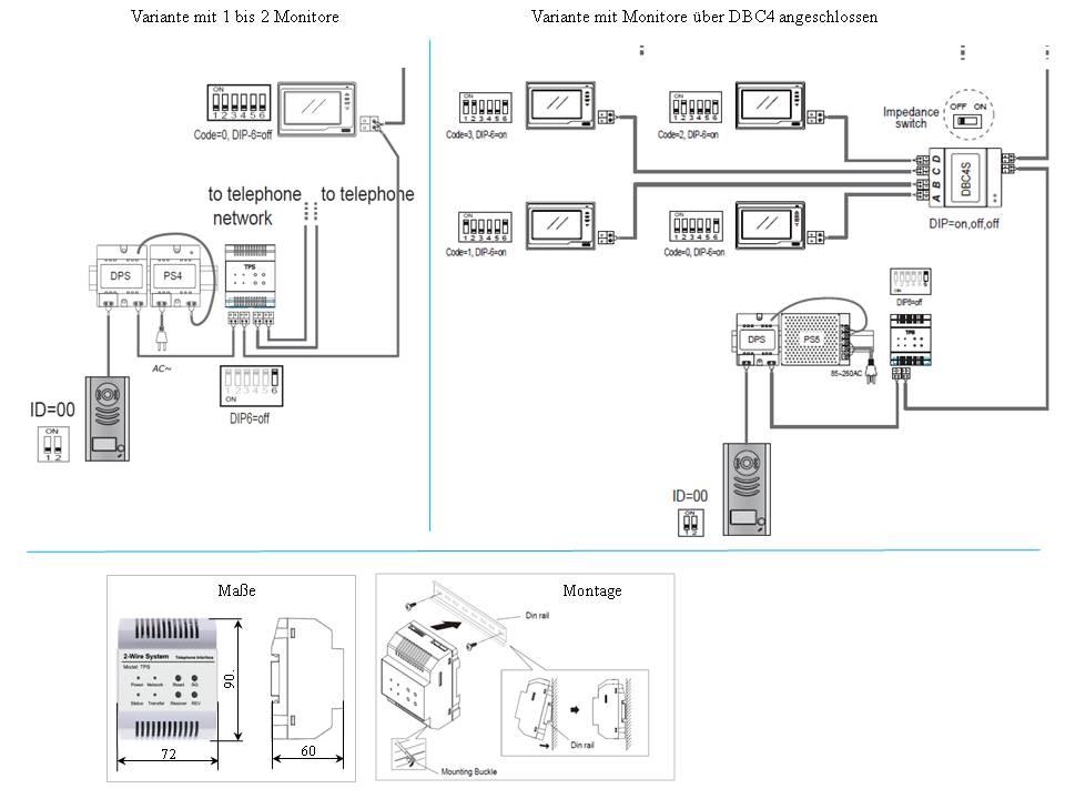 modul dt tps f r anschluss unserer 2 draht t rsprechanlagen an telefonanlagen. Black Bedroom Furniture Sets. Home Design Ideas
