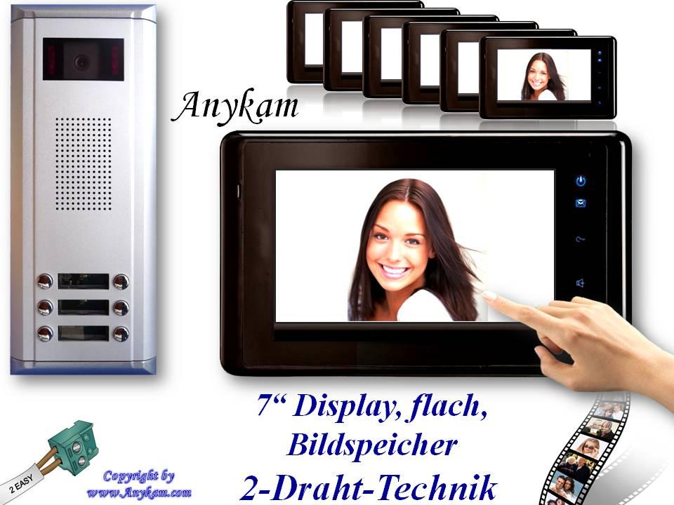 d6 dt27sd b video t rsprechanlage videosprechanlage 6 familienhaus bildspeicher. Black Bedroom Furniture Sets. Home Design Ideas