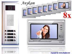 D8+692 Video Türsprechanlage Videosprechanlage Türklingel 8-Familienhaus 2-Draht