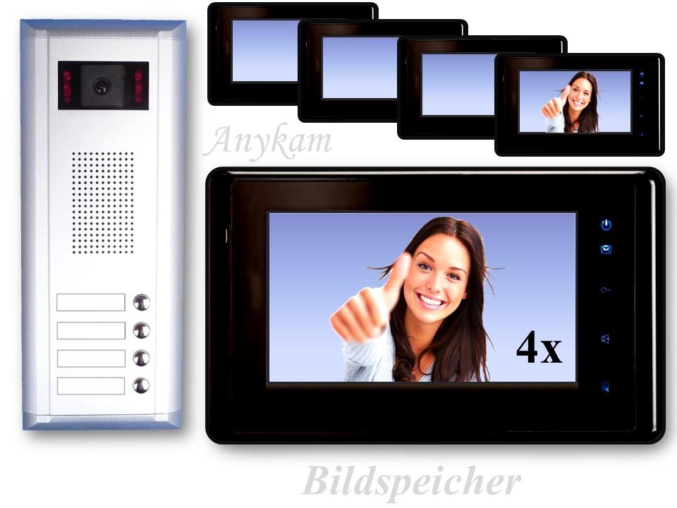 dts4 27sd b video t rsprechanlage 2draht gegensprechanlage 4familienhaus memory ebay. Black Bedroom Furniture Sets. Home Design Ideas