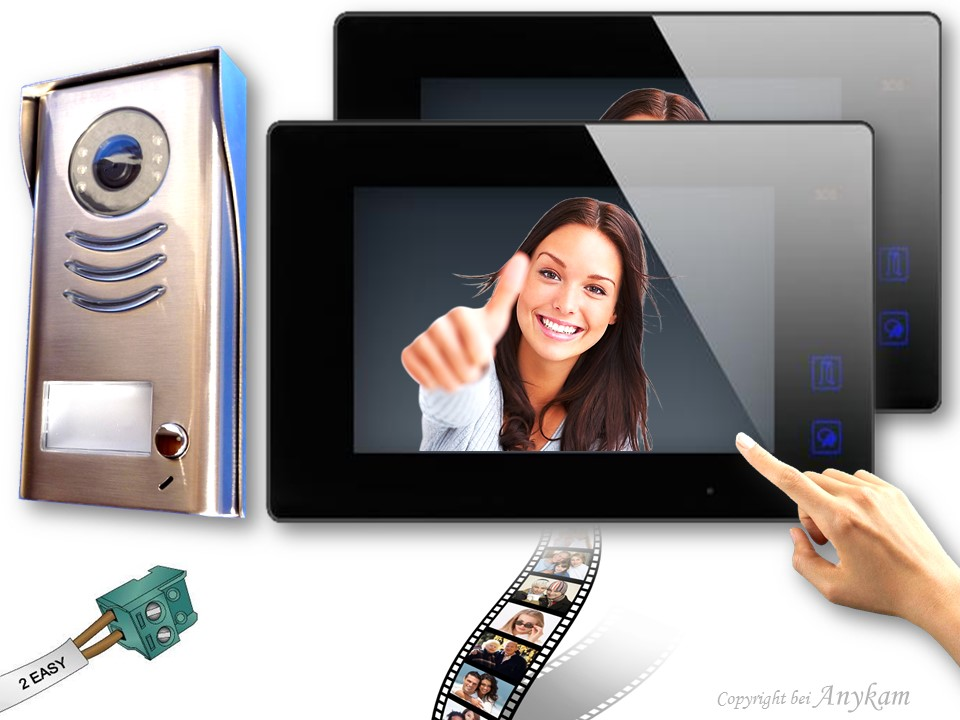 dt591 2x47mb video t rsprechanlage gegensprechanlage. Black Bedroom Furniture Sets. Home Design Ideas