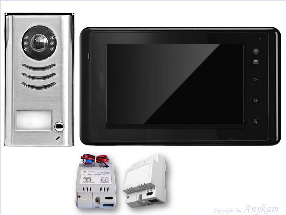 video t rsprechanlage klingelanlage t ranlage kamera mit. Black Bedroom Furniture Sets. Home Design Ideas
