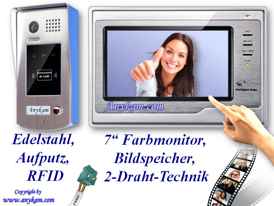 video t rsprechanlage 2draht gegensprechanlage speicher rfid card dt596id 692sd ebay. Black Bedroom Furniture Sets. Home Design Ideas