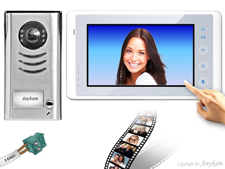 t rsprechanlage klingelanlage video berwachung kamera monitor speicher 591 27sdb ebay. Black Bedroom Furniture Sets. Home Design Ideas