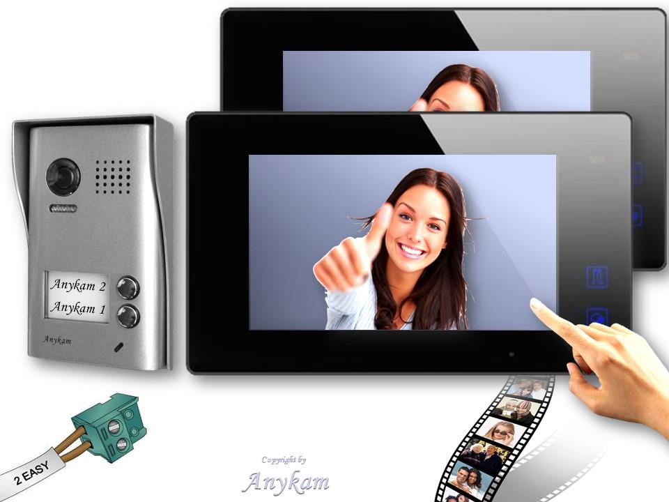 2 draht video t rsprechanlage 602d 2x47mb speicher. Black Bedroom Furniture Sets. Home Design Ideas
