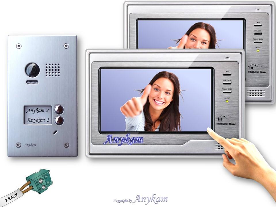 video t rsprechanlage 2 familien 603d 2x dt692 gegensprechanlage 2 draht klingel ebay. Black Bedroom Furniture Sets. Home Design Ideas