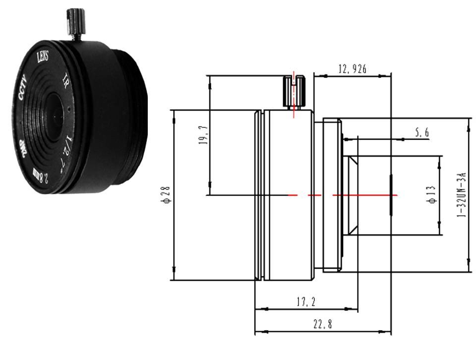 Weitwinkel Objektiv Weitwinkelobjektiv für Überwachungskameras Videoüberwachung