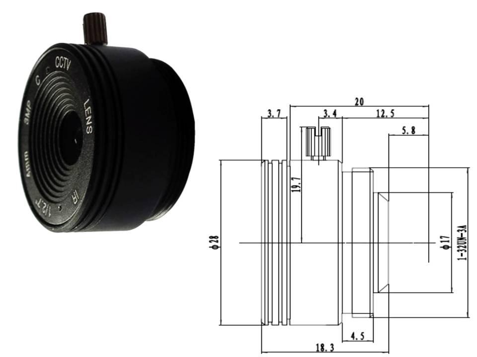 Objektiv für Überwachungskamera Videoüberwachung