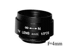 Objektiv C4 Fixfocal f=4mm fix iris Megapixel CS-mount für Überwachungskameras