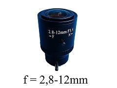 Objektiv G2812, Variofocal, f=2,8-12mm, manual iris, CS-Mount für CCTV
