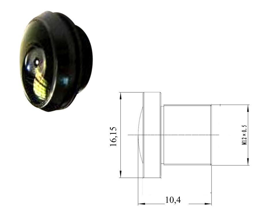 f 1 05mm 206grad blickwinkel mini weitwinkel objektiv m12 f r minikamera. Black Bedroom Furniture Sets. Home Design Ideas
