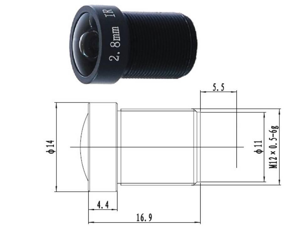130Grad Weitwinkel Miniobjektiv für Mini Kamera Minikamara und Video Türsprechanlagen