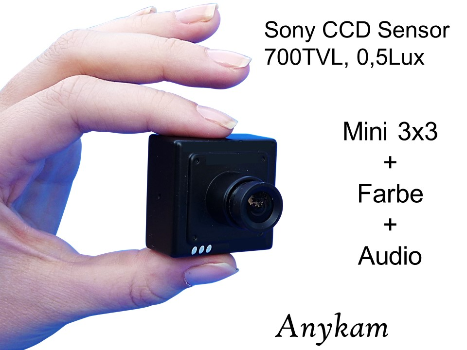 Audio Mini Kamera Minikamara Profikamera mit Sony CCD Spionkamera mit Tonübertragung bei profikamera.com