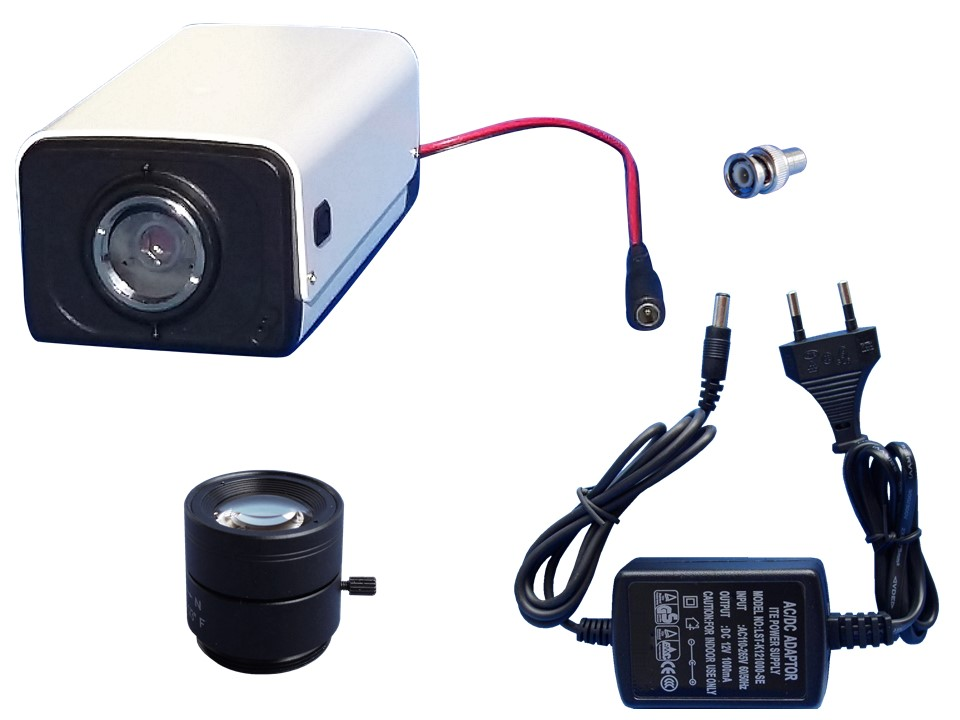 Lieferumfang Box Kamera Überwachungskamera