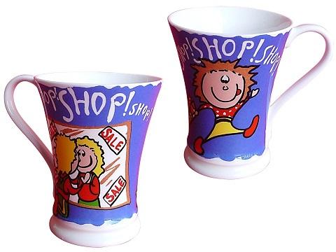 blaue Kaffetasse Milchtasse Kindertasse Teetasse Tasse aus fine bone china porzellan