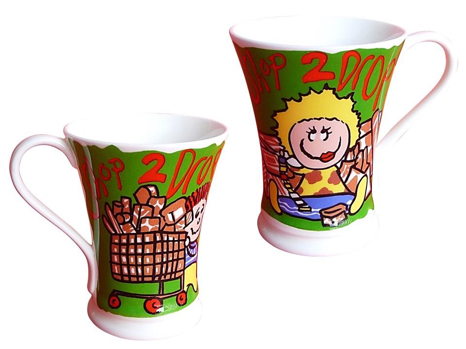 grüne Kaffetasse Milchtasse Kindertasse Teetasse Tasse aus fine bone china porzellan