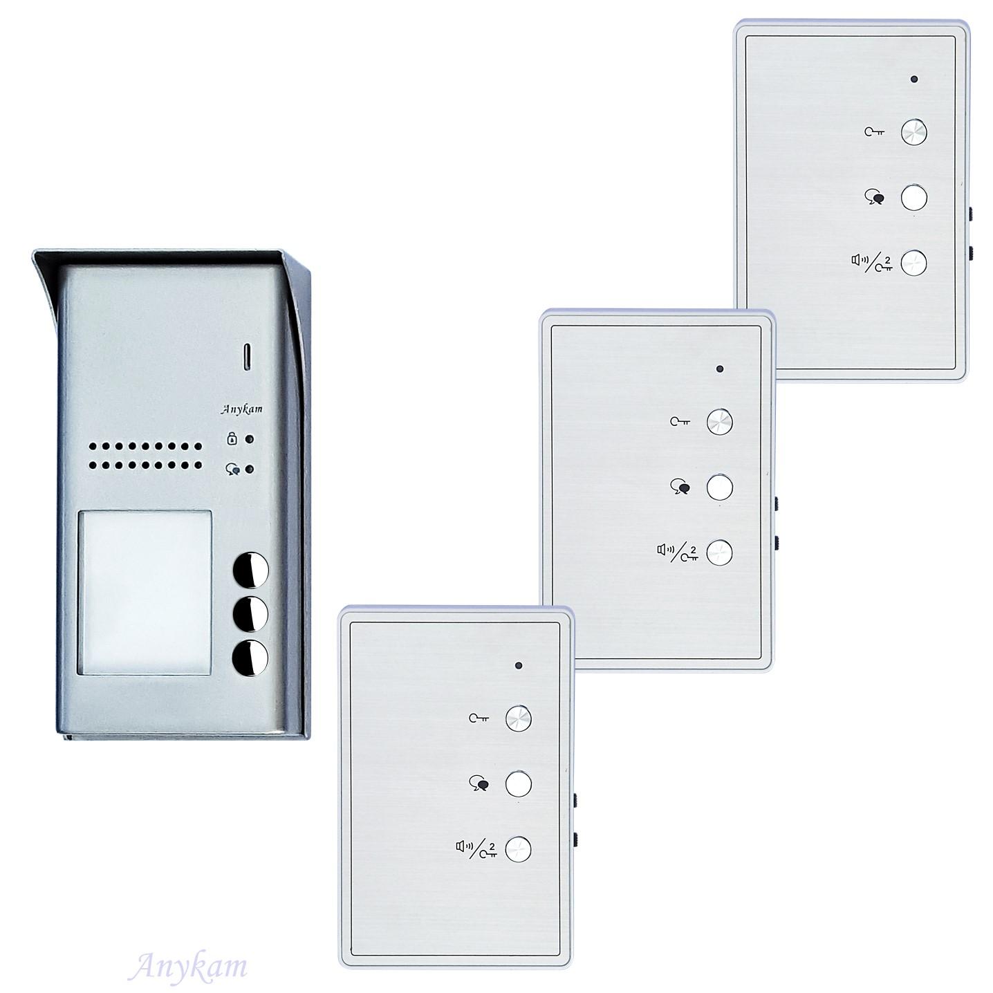 Design Türsprechanlage für Mehrfamilienhaus sprechanlage Gegensprechanlage Klingelanlage Interfon mit 2-Draht Technik