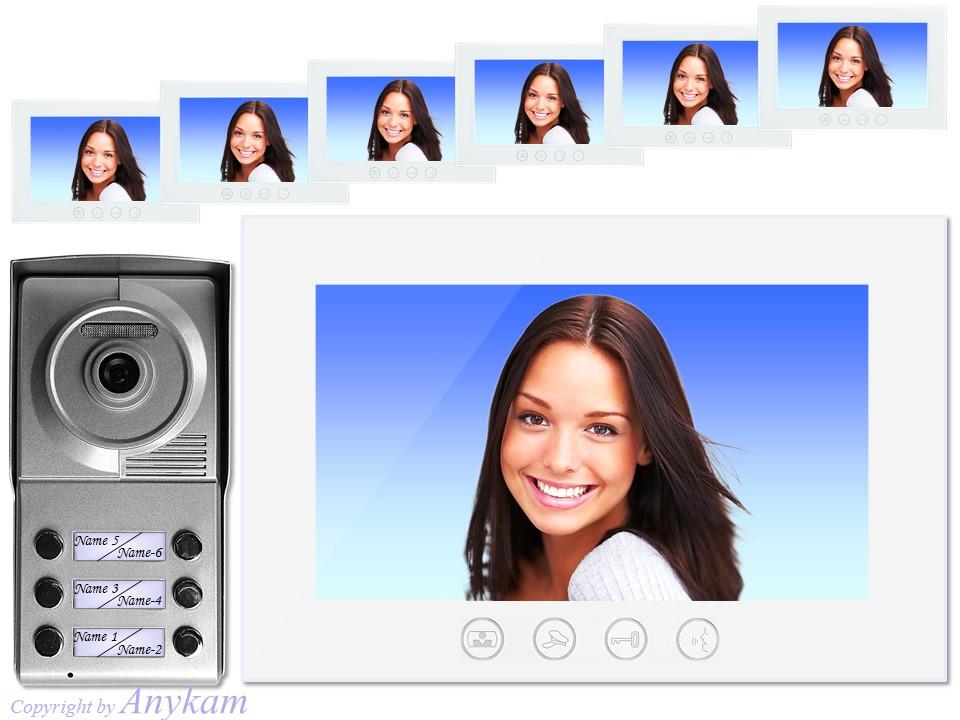 videosprechanlage video t rklingel 2 draht bus kamera farbmonitor 702 6x829rw ebay. Black Bedroom Furniture Sets. Home Design Ideas