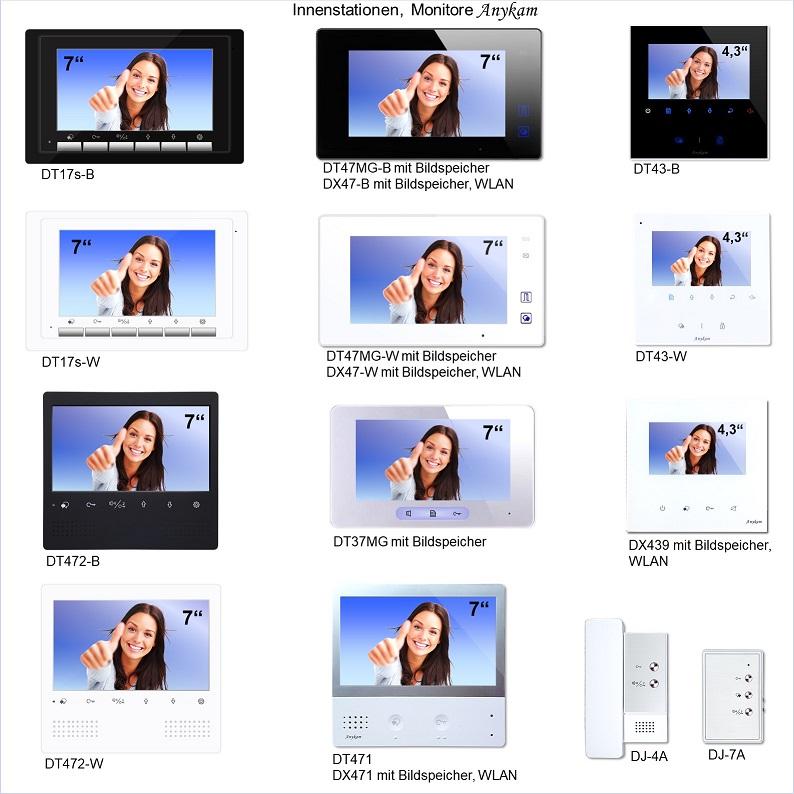 Erweiterungsmonitore für Videosprechanlagen zweidraht