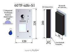 607F-idfe-S1 Fischaugenkamera Türstation Edelstahl, Unterputz