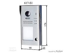 617S1 Aussenstation mit Kamera Türstation Edelstahl Design Aufputz