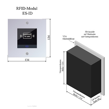 ES-ID Edelstahl RFID-Modul 2Draht Türsprechanlage für Briefkastenanlage