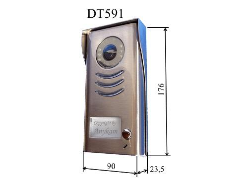 DT-591-HD Weitwinkelkamera Türstation Edelstahl, Aufputz
