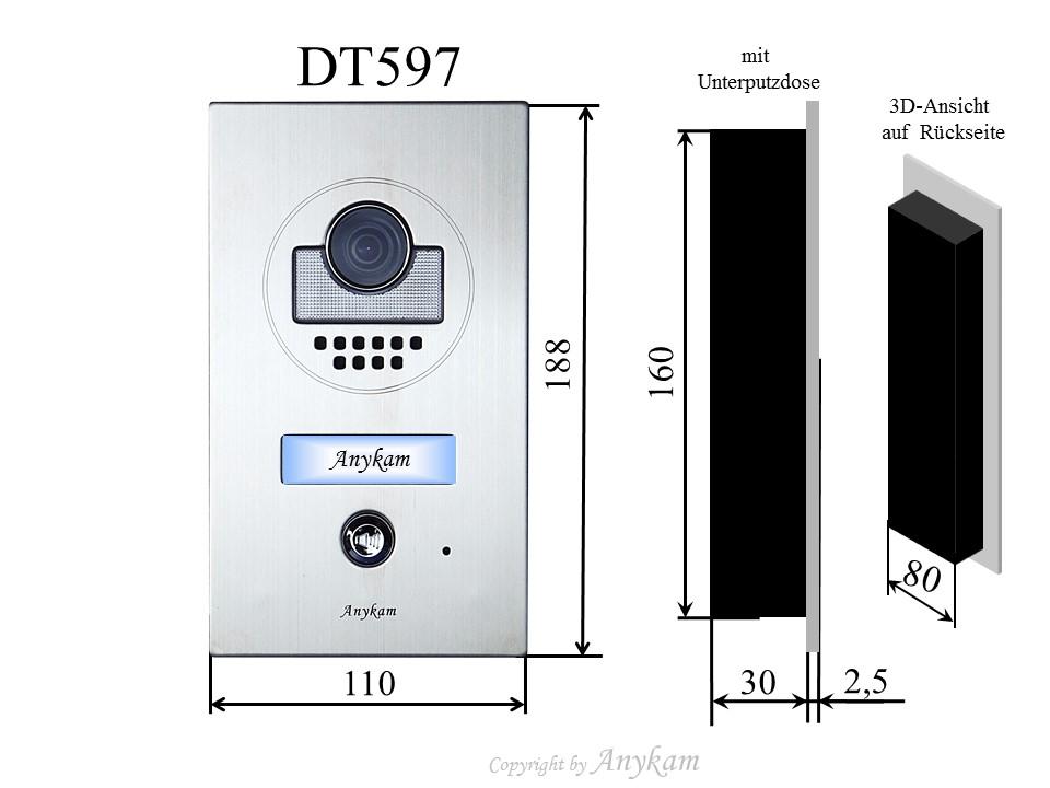 videosprechanlage gegensprechanlage t rsprechanlage aufzeichnung bus dt597 27sdb ebay. Black Bedroom Furniture Sets. Home Design Ideas
