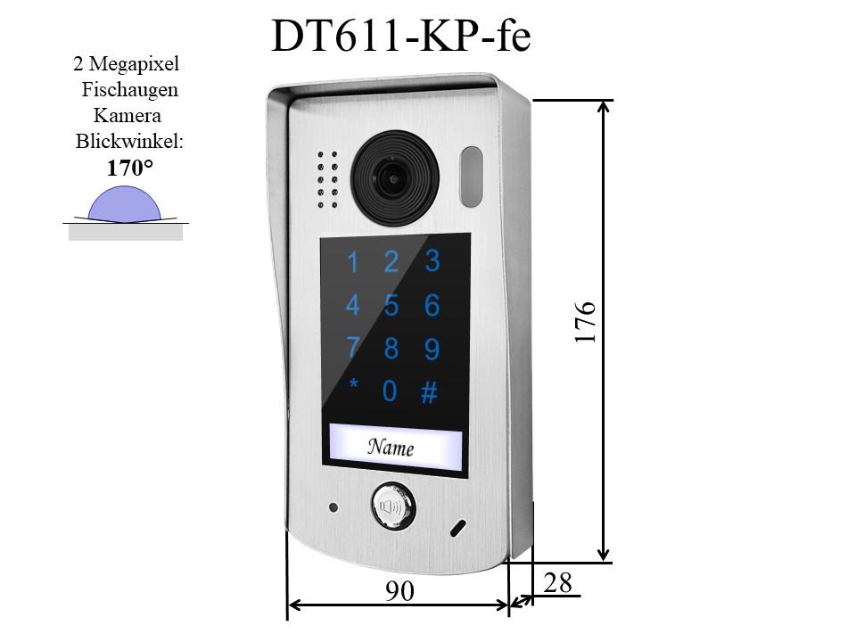 Aussenstation DT611-KP-fe für Video Gegensprechanlage einfamilienhaus mit 2-draht-Technik