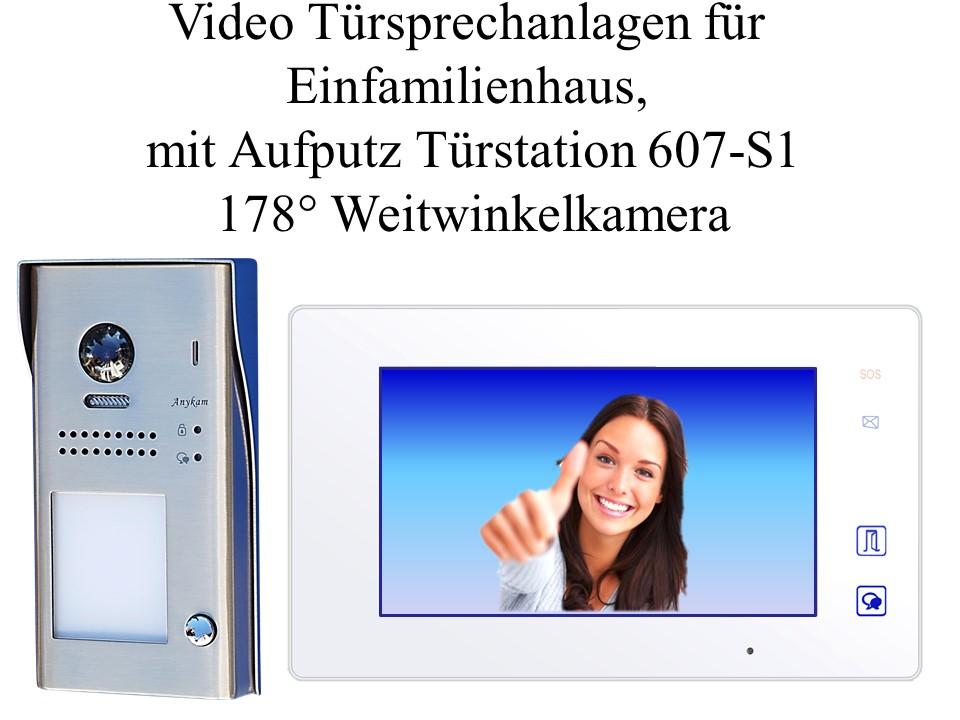 Edle Farb Video Gegensprechanlagen 2-Draht Edelstahl Türstation Unterputz DT603