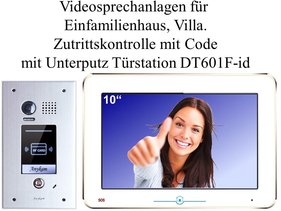 Video gegensprechanlage Zutrittskontrolle Türöffnung mit RFID-Chip, Unterputzmontage DT601F-id-fe