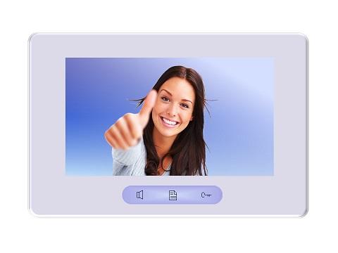 DT37MG Innenstation mit Bildspeicher 7Zoll Monitor weiss-silber ultraflach
