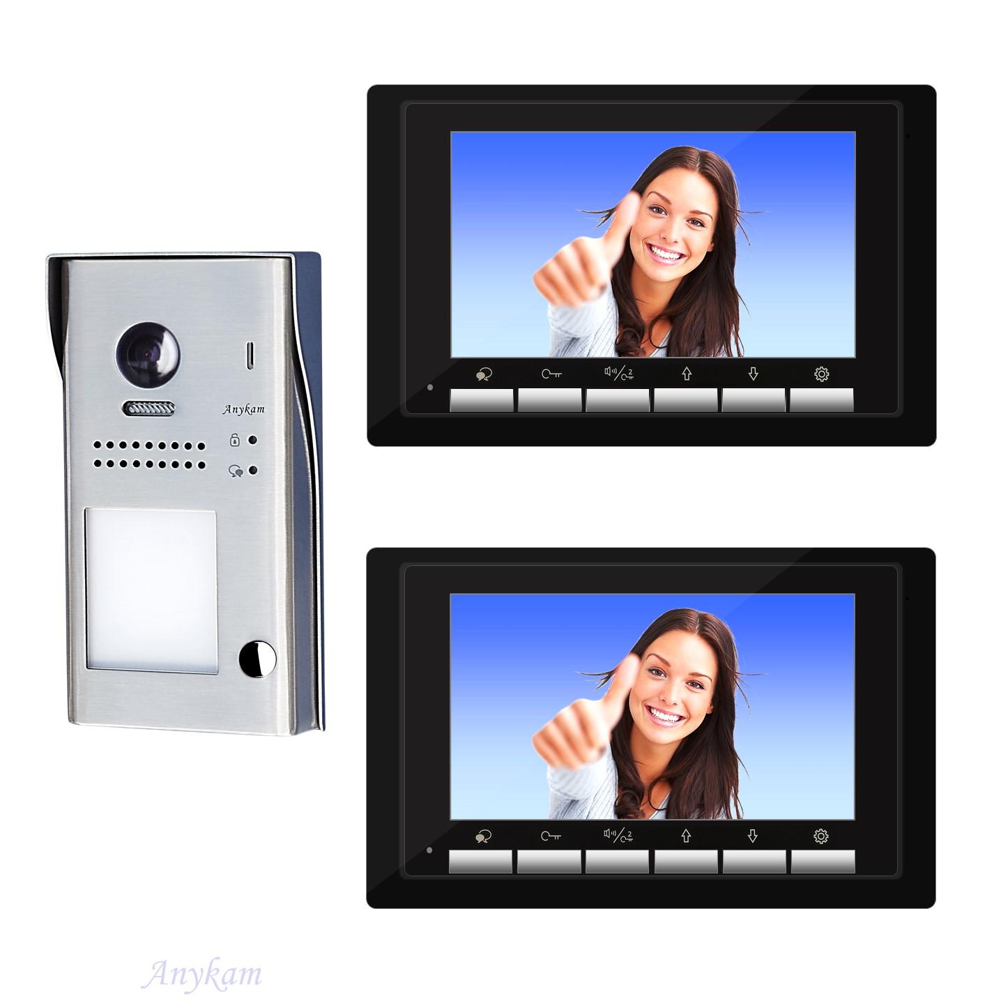 Video Türsprechanlage Einfamilienhaus Videosprechanlage Gegensprechanlage Klingelanlage Interfon mit 2-Draht Technik