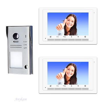 607idfeS1 2x 17W Video Türsprechanlage Videosprechanlage Einfamilienhaus 2Draht