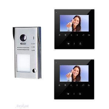 607idfeS1 2xDT43B Video Türsprechanlage Videosprechanlage Einfamilienhaus 2Draht