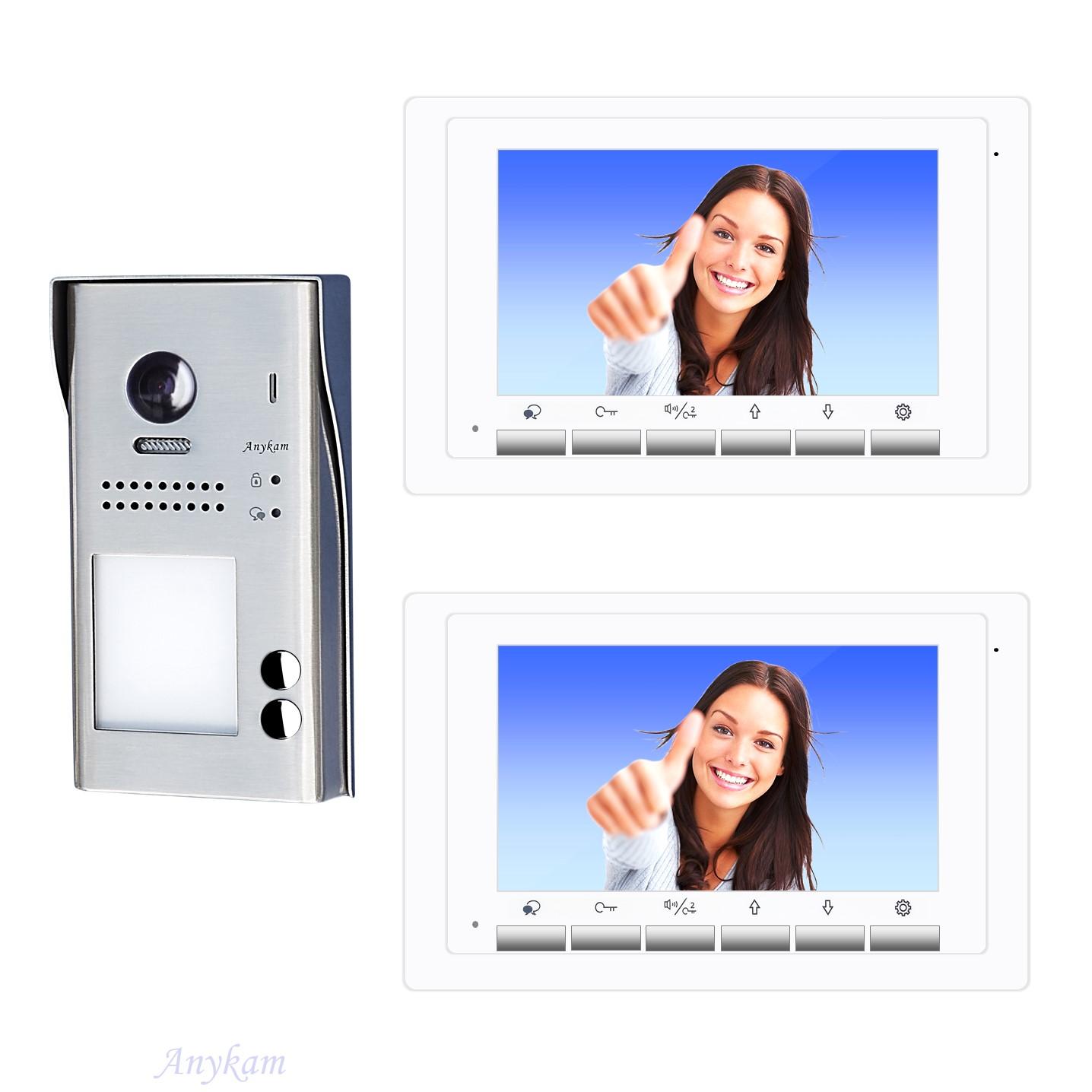 Video Türsprechanlage Zweifamilienhaus Videosprechanlage Gegensprechanlage Klingelanlage Interfon mit 2-Draht Technik