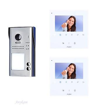 607idfeS2 DT43W Video Türsprechanlage Videosprechanlage 2-Familienhaus 2Draht