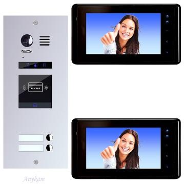 ES2ID+ DT27B Video Türsprechanlage Videosprechanlage 2-Familienhaus 2Draht