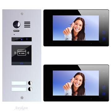 ES2ID+ DT47M-B Video Türsprechanlage Videosprechanlage 2-Familienhaus 2Draht