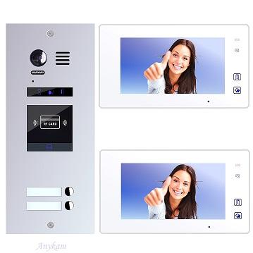 ES2ID+ DT47M-W Video Türsprechanlage Videosprechanlage 2-Familienhaus 2Draht