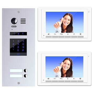 ES2KP+ DT17W Video Türsprechanlage Videosprechanlage 2-Familienhaus 2Draht