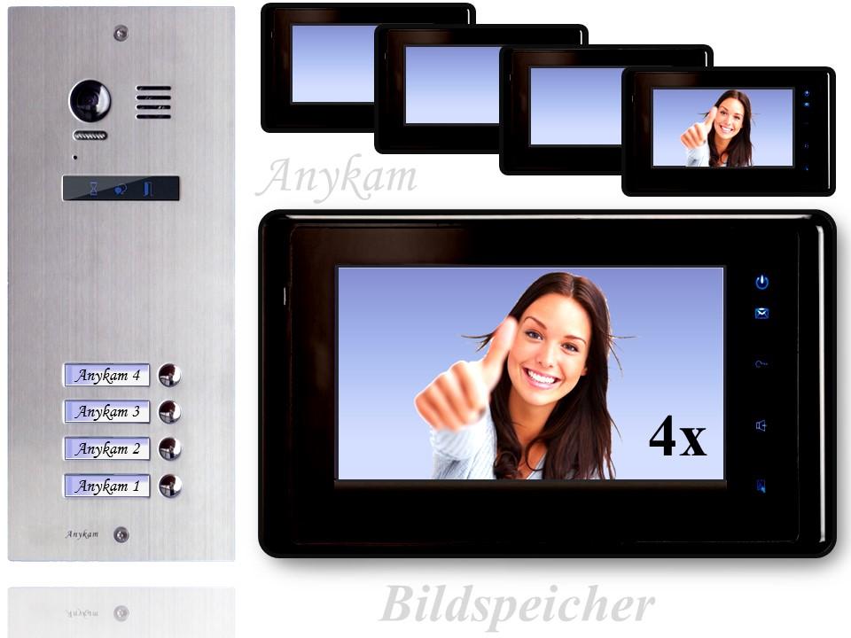 es4 dt27sd b video t rsprechanlage videosprechanlage 4 familienhaus 2draht. Black Bedroom Furniture Sets. Home Design Ideas