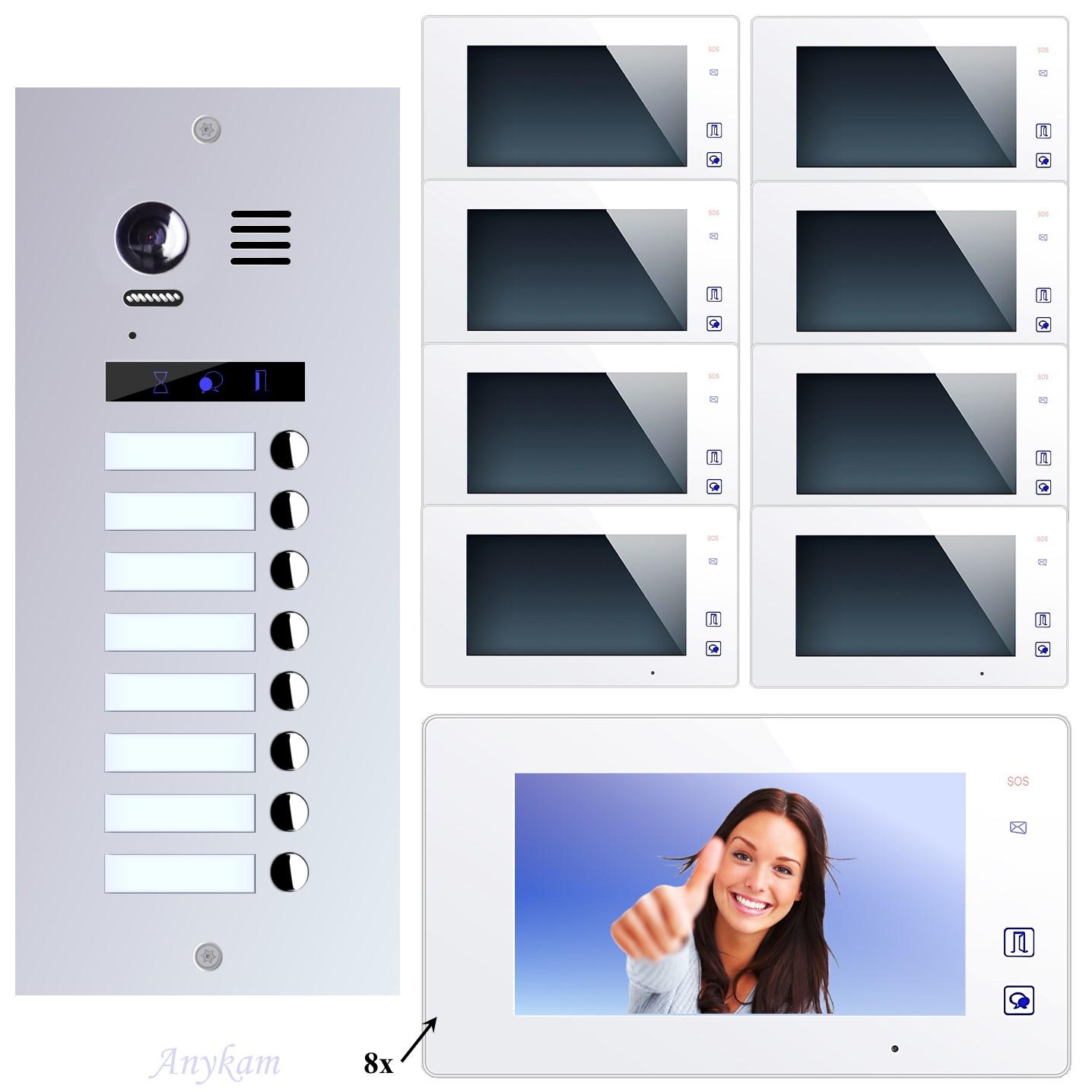 video t rsprechanlage edelstahl 2draht videosprechanlage 8. Black Bedroom Furniture Sets. Home Design Ideas