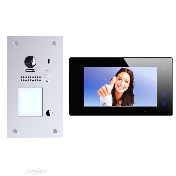 Video gegensprechanlage Zutrittskontrolle Türöffnung RFID, Unterputzmontage DT607F-S1